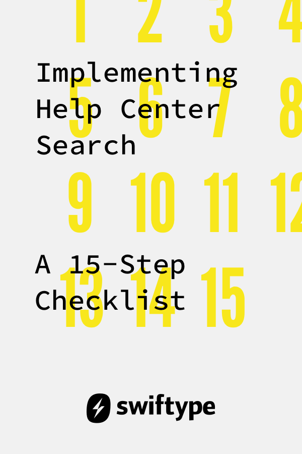 Implementing help center search