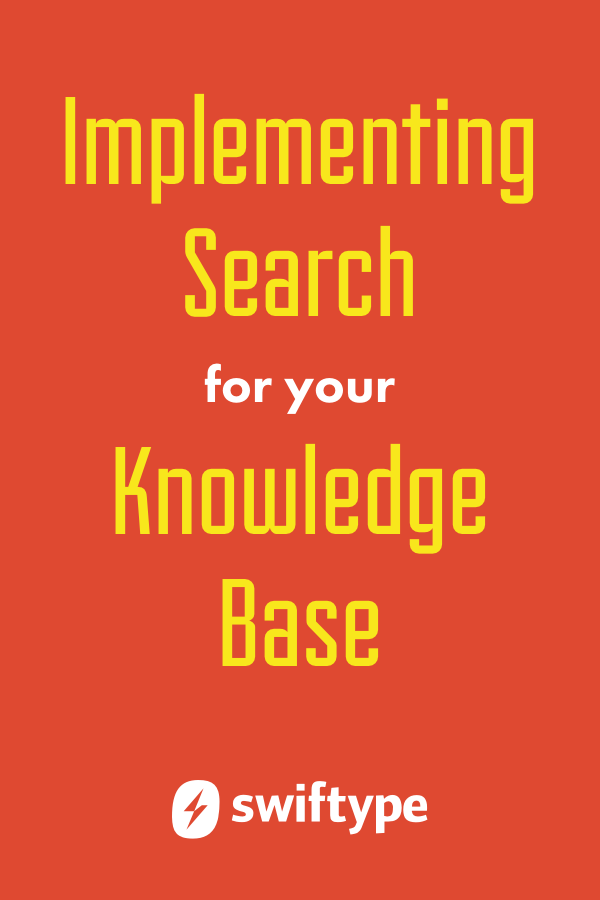 Implementing search for your knowledge base